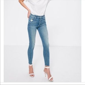 MOTHER The Stunner Ankle Fray Jeans Size 29